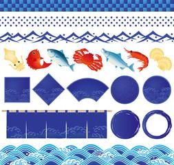 海まつり 海鮮 居酒屋 広告 イラスト