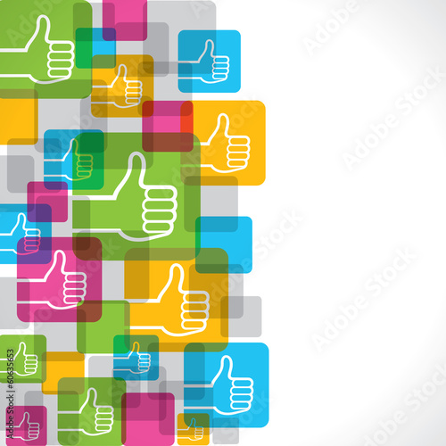 Like or thumbs up symbol background stock vector