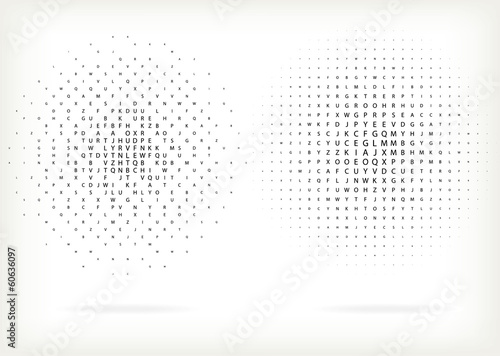 Halftone background for text, vector