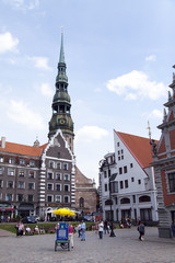 Riga, Latvia. Typical urban view