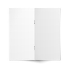Brochure cover template on white background.