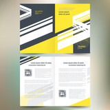 booklet catalog brochure line abstract yellow gray white