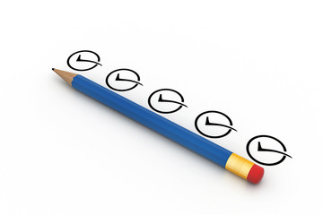 pencil with checklist