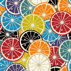 Lemon slice colored pattern