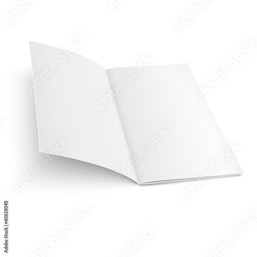 Brochure template on white background.