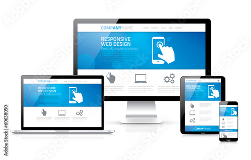 Scalable and flexible responsive web design concept vector EPS10