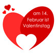 Herz Sprechblase Valentinstag