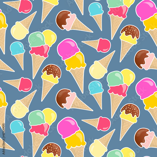 Seamless vector icecream background in happy bright colors
