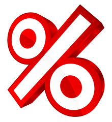 Percent Sign Sale Red
