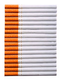 Cigarettes isolated on white. Background