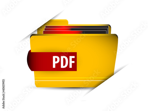 Vector icon file with pdf