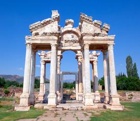 Famous Tetrapylon Gate in Aphrodisias