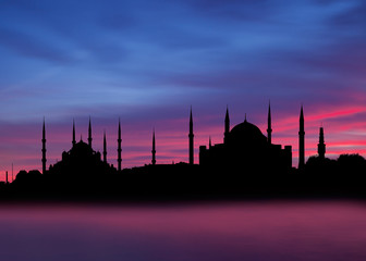 Hagia sophia and The Blue Mosque,  Istanbul, Turkey