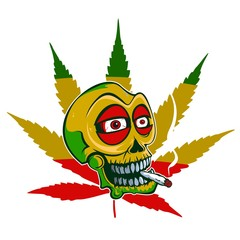 Marihuana skull