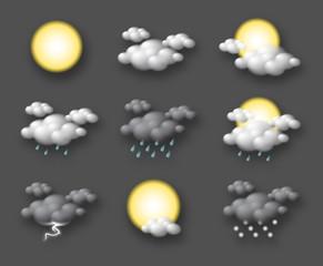 Pictogrammes météo vectoriels 1