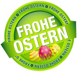 """Button Banner """"Frohe Ostern"""" Ostereier grün"""