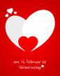 Karte Herz Valentinstag