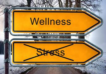 Strassenschild 5 - Wellness