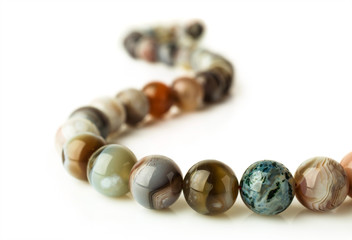 patterned agate beads