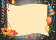 Carnival party decorative background