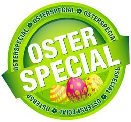 """Button Banner """"Osterspecial"""" Ostereier grün"""