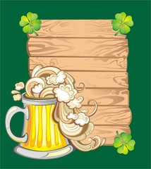Happy St. Patrick's Day greeting banners