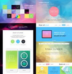 UI is a set of components featuring the flat design
