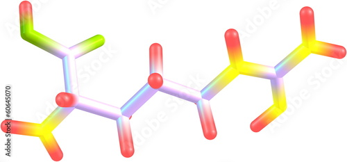 Arginine molecular structure on white background