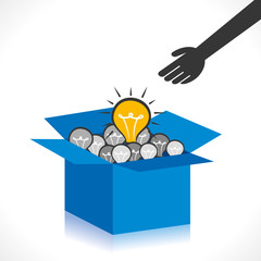think out of the box concept oe new idea concept vector