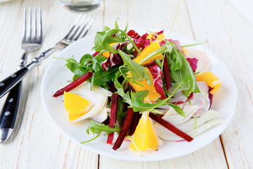 beet salad with orange and fennel