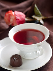 tea with candy
