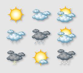 Pictogrammes météo vectoriels 2