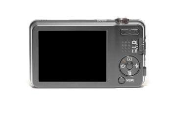 Fotocamera compatta con display nero