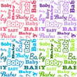 Set of seamless baby shower backgrounds