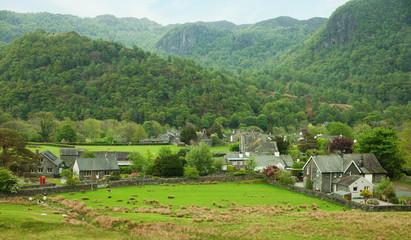 Village in Lake District, Cumbria. UK.