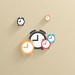 Vector creative flat ui icon background. Eps 10