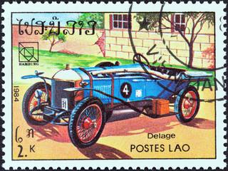 Delage classic car (Laos 1984)