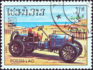 Bugatti classic car (Laos 1984)