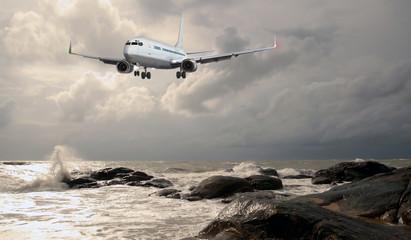 Passagierflugzeug landet