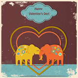 cute elephants in love