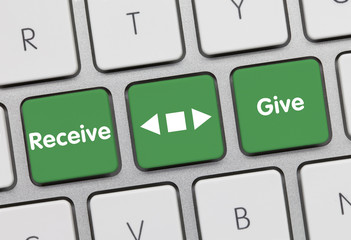 Receive or give. Keyboard