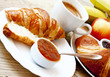 French Breakfast with Croissants
