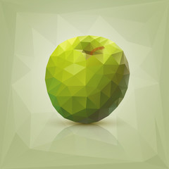 Polygon green apple