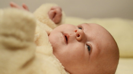 newborn baby closeup