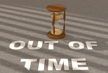 Text Out of time with clock