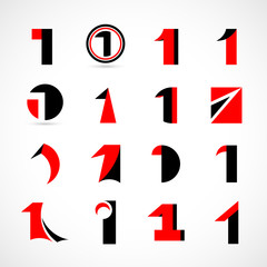 Unusual Numbers Set - Isolated On Gray Background