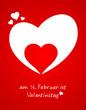 Karte Herz in Herz Valentinstag