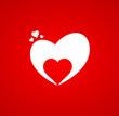 Hintergrund Herz rot