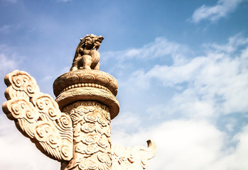 stone column at forbidden city, Beijing, China