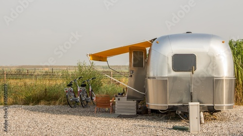 Foto op Canvas Kamperen Amercian airstream caravan